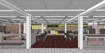 rendering of the new learning commons space