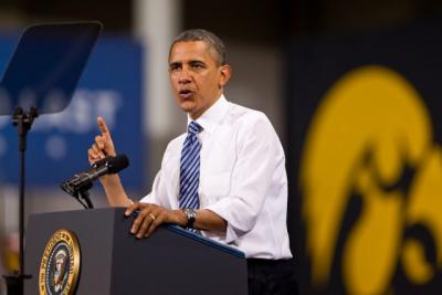 president obama speaking in the field house