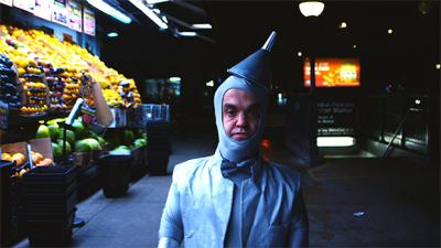 A scene from The Little Tin Man standing in the produce aisle, one of many independent films