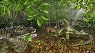 Strange days: The lizard was among a menagerie of animals inhabiting South East Asia during the Eocene