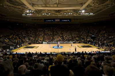 past year's NCAA women's tournament tip off at Carver Hawkeye Arena.
