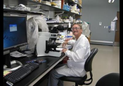 Michael Last is a parasitologist at the Iowa State Hygienic Laboratory at the University of Iowa in Coralville who first recognized that an outbreak of diarrheal disease in Iowa in June was caused by the microscopic parasite Cyclospora cayetanensis