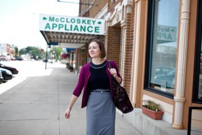 Kay Oskvig, a rising second-year law student, in Garner, Iowa, where she is a summer clerk.