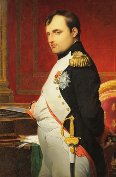 A painting of the Emperor Napoleon