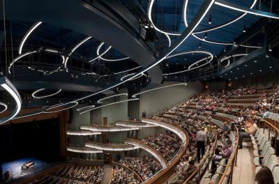 hancher auditorium grand opening scene