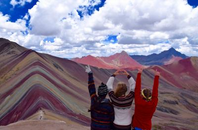"Study Abroad Grand Prize: ""Somewhere over the rainbow (mountains),"" by Megan Lough, was taken at 16,500 feet in the Rainbow Mountains of Vinicunca, Peru. This photo by Lough from Eagan, Minnesota, majoring in nursing, was awarded the Study Abroad G"