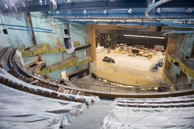 Interior of new Hancher Auditorium