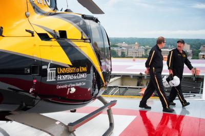 When the AirCare emergency helicopter service at the University of Iowa Hospitals & Clinics made its first flight in 1979, it was the first hospital-based emergency air medical program in Iowa and the 11th program in the nation.
