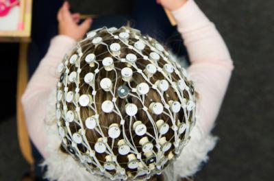 child taking part in research project