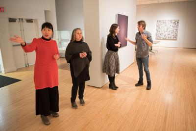 student curators at the university of iowa stanley museum of art