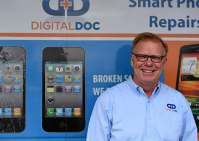 Bob Geers, owner of Digital Doc in Cedar Rapids, says Digital Doc has numerous stores in Iowa and is currently working with UI's IIB program to look at expansion options in South Africa and Ghana.
