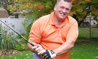 Billy Albritton of East Peoria, Ill., enjoys golf