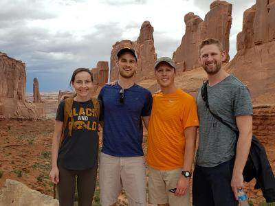 ui students at arches national park