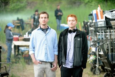Scott Beck and Bryan Woods on location