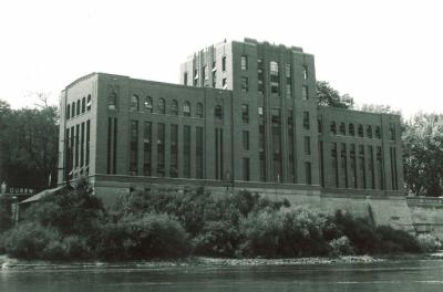 The UI Hydraulics Laboratory is shown in 1933. The recent acquisition of a set of journals written by the lab's founding director help paint a picture of the early days of the University of Iowa's internationally renowned hydraulics research.