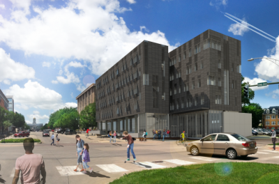 rendering of new psychological and brain sciences building