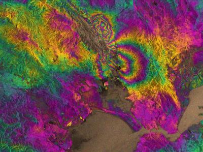 GPS and inSAR composite map of Napa earthquake