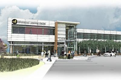An artist's rendering of the new home of the Tippie MBA for Professionals and Managers program in the Quad Cities.