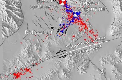 ridgecrest earthquake map