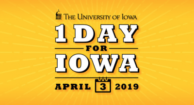 One Day for Iowa will be April 3, 2019.