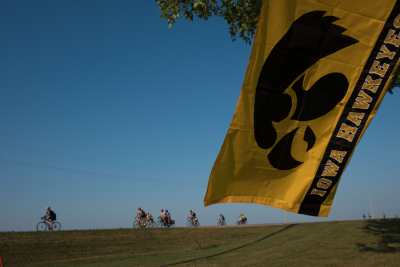 As RAGBRAI riders travel across Iowa, Hawkeye pride takes center stage, whether displayed on the gear of cyclists or adorned on homes and vehicles along the route.