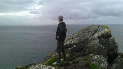 2012 Irish Writing Program participant Ben TeBockhorst surveying the Irish coast. Photos courtesy of UI International Programs.