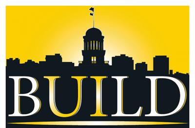 ui old capitol logo with BUILD title below