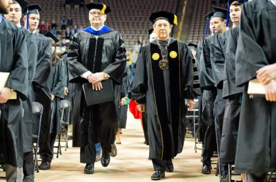 officials at commencement