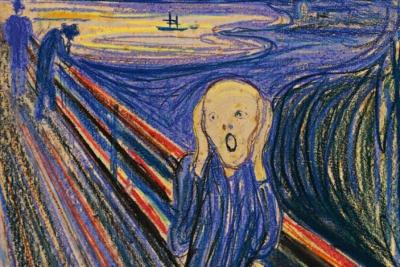 "Edvard Munch's ""The Scream."" (AP Photo/Sotheby's Auction House)"