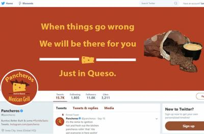 Twitter graphic for Pancheros marketing campaign