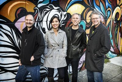 Members of the Kronos Quartet