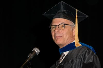 Mark Wiesner at commencement