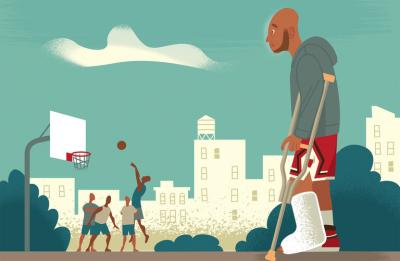 basketball injury illustration