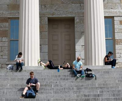 Students at Old Capitol
