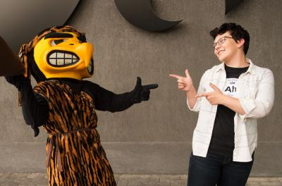 Erica Cole and Herky