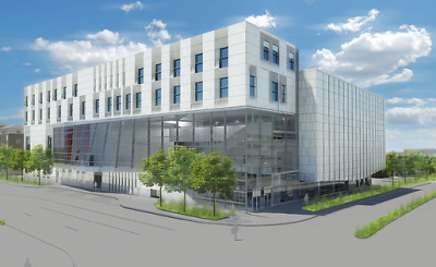 architect's rendering of new music building