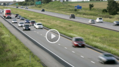 vehicles driving on Interstate