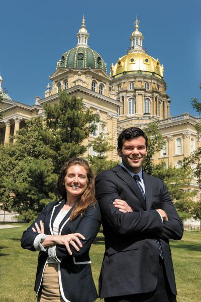 Andrea Jansa and Jimmy Centers at the State Capitol