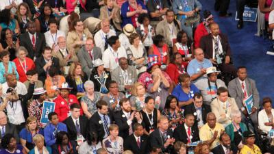 Democratic National Convention crowd