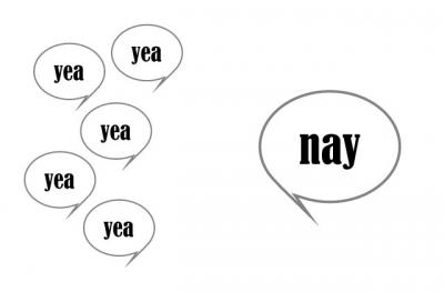 yea vs. nay word bubbles