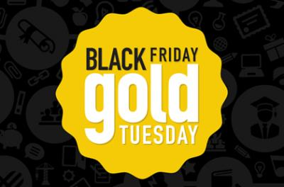 Black Friday Gold Tuesday logo