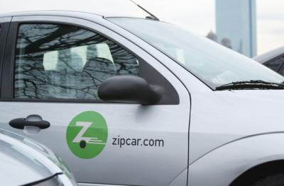car with zipcar logo on side