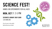 Science Fest at the Sciences Library!