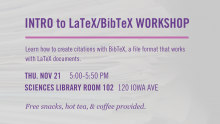Intro to LaTeX/BibTeX Workshop