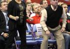 Matt McDonough's parents, Sandi and Michael, rise to their feet as their son competes in the NCAA Championships.