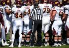 Head linesman Mike Mahouski tells Central Michigan that the timeout is over.