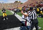 Jim Visingardi signals out of bounds on a Central Michigan pass play.