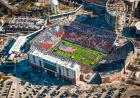 Aerial photo of Stars and Stripes card stunt