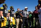 Shawn Smith during the coin toss.
