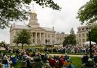 Despite the cloudy weather Saturday, hundreds turned out to watch the performance.